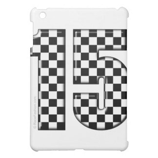 número a cuadros el competir con auto 15