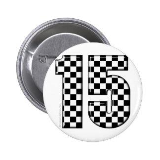 número a cuadros el competir con auto 15 pin