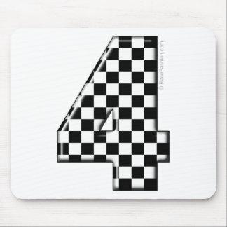 número a cuadros el competir con auto 4 alfombrillas de ratón