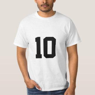 Número afortunado 10 playeras