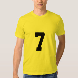 Número afortunado 7 playeras