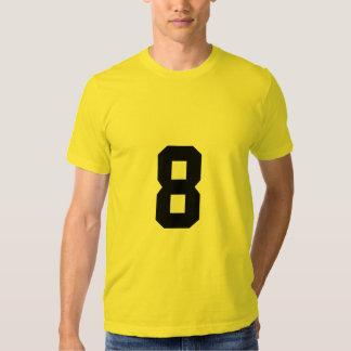 Número afortunado 8 camisas