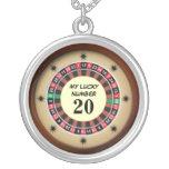 Número afortunado de la tabla de la ruleta grimpolas personalizadas