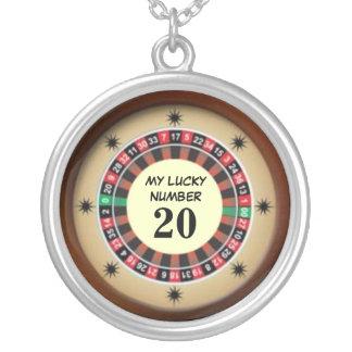 Número afortunado de la tabla de la ruleta colgante redondo