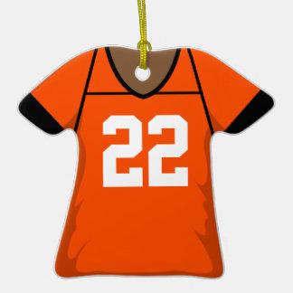 Número anaranjado 22 B del jersey del fútbol Ornamente De Reyes