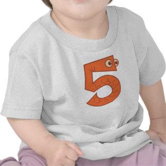 Número animal 5 camisetas