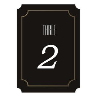 """Número ATRACTIVO de la tabla del boda del Invitación 5"""" X 7"""""""