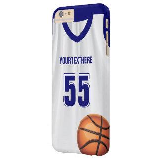 Número azul del nombre del vestido de bola de la funda para iPhone 6 plus barely there