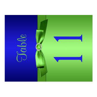 Número bilateral de la cal y de la tabla del azul postales