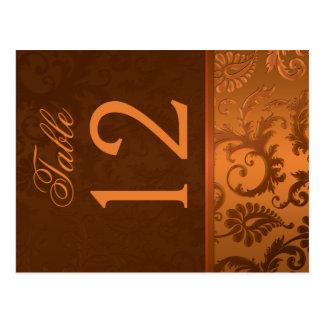 Número bilateral de la tabla del damasco de Brown  Postal