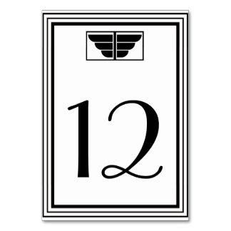 Número blanco de la tabla del marco #2 H del negro