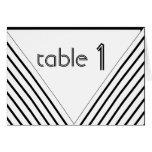 Número blanco y negro de la tabla de la raya del tarjeta de felicitación