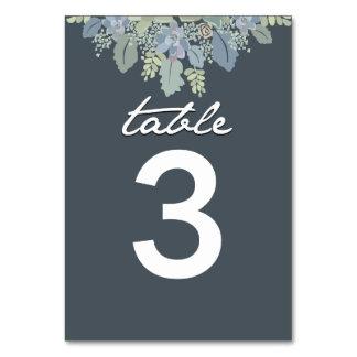 Número bonito de la tabla del boda del jardín del