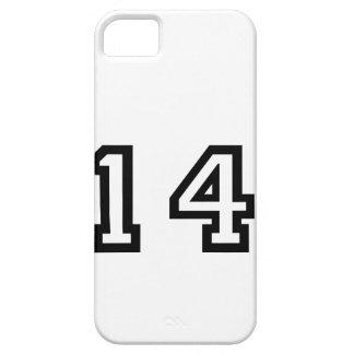 Número catorce iPhone 5 carcasa