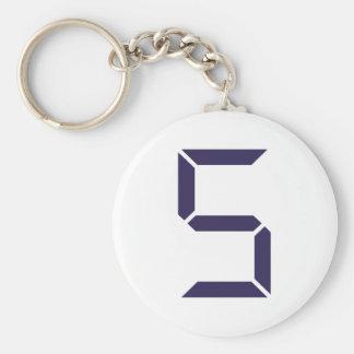 Número - cinco - 5 llavero personalizado