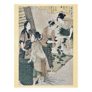 Número cinco por Kitagawa, Utamaro Ukiyoe Tarjetas Postales