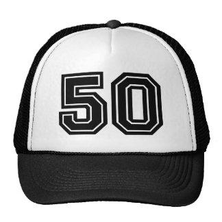 Número clásico 50 gorras