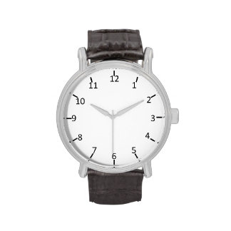 Número clásico reloj