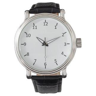 Número clásico relojes de pulsera