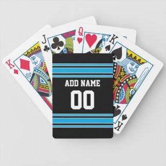 Número conocido de encargo del jersey azul negro d baraja de cartas bicycle