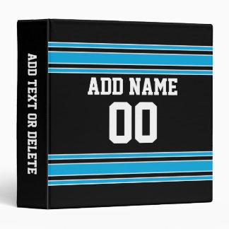 "Número conocido de encargo del jersey azul negro d carpeta 1 1/2"""