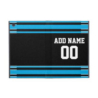 Número conocido de encargo del jersey azul negro d iPad mini cárcasa