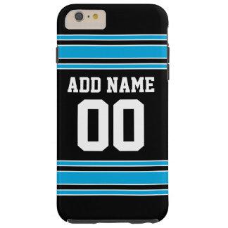 Número conocido de encargo del jersey azul negro funda de iPhone 6 plus tough