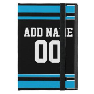 Número conocido de encargo del jersey azul negro iPad mini cobertura