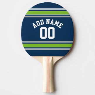 Número conocido de encargo del jersey azul y verde pala de tenis de mesa