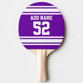 Número conocido de encargo del jersey blanco pala de ping pong