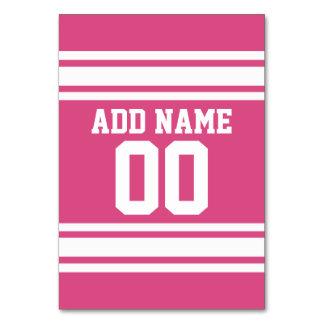 Número conocido de encargo del jersey blanco rosad