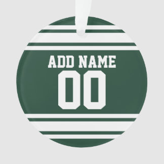 Número conocido de encargo del jersey blanco verde