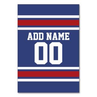 Número conocido de encargo del jersey del fútbol d