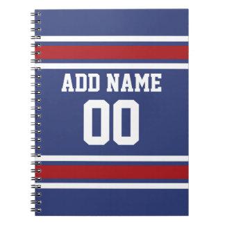 Número conocido de encargo del jersey del fútbol d spiral notebooks