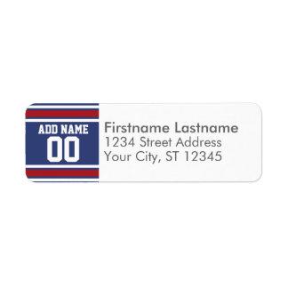 Número conocido de encargo del jersey del fútbol d etiqueta de remitente