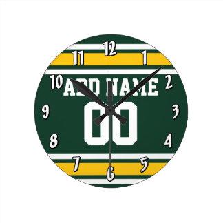 Número conocido de encargo del jersey del fútbol d reloj