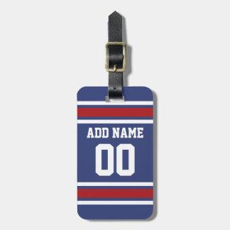 Número conocido de encargo del jersey del fútbol etiqueta de maleta