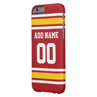 Número conocido de encargo del jersey del fútbol funda para iPhone 6 barely there