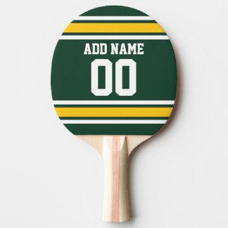 Número conocido de encargo del jersey del fútbol pala de ping pong