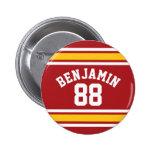 Número conocido de encargo del jersey del fútbol pin