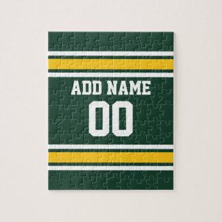Número conocido de encargo del jersey del fútbol rompecabeza