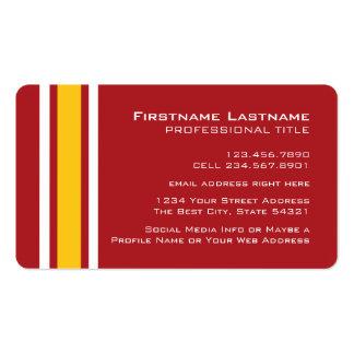 Número conocido de encargo del jersey del fútbol tarjetas de visita