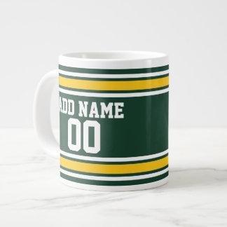 Número conocido de encargo del jersey del fútbol taza grande