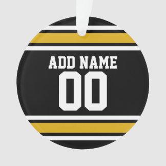 Número conocido de encargo del oro del jersey negr