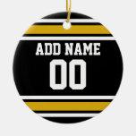 Número conocido de encargo del oro del jersey negr ornato