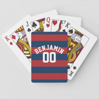 Número conocido de las rayas del rugbi de los cartas de póquer