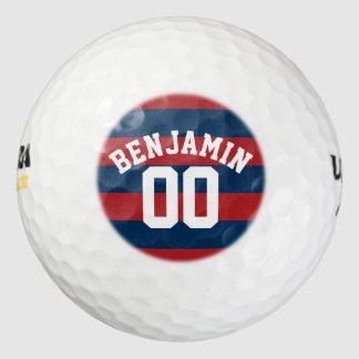 Número conocido de las rayas del rugbi de los pack de pelotas de golf
