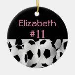 Número conocido del fútbol adorno redondo de cerámica