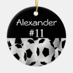 Número conocido del fútbol ornamentos de navidad