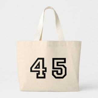 Número cuarenta y cinco bolsa tela grande
